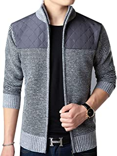 XinDao Men's Quilted Nylon Full Zip Sweater
