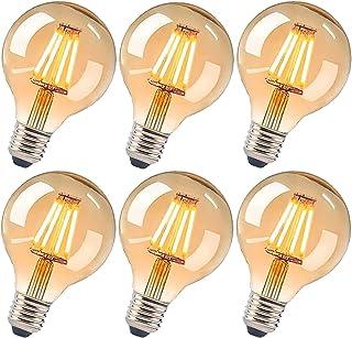 LED vintage glödlampa E27, G80 4 W Edison LED-lampa varm vit retro glödlampa vintage antik glödlampa idealisk för nostalgi...