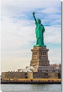 Poster New York City USA Statue of Liberty Island in NYC Manhattan America Fabric Prints Wall 20x13inch (50x33cm) (017)