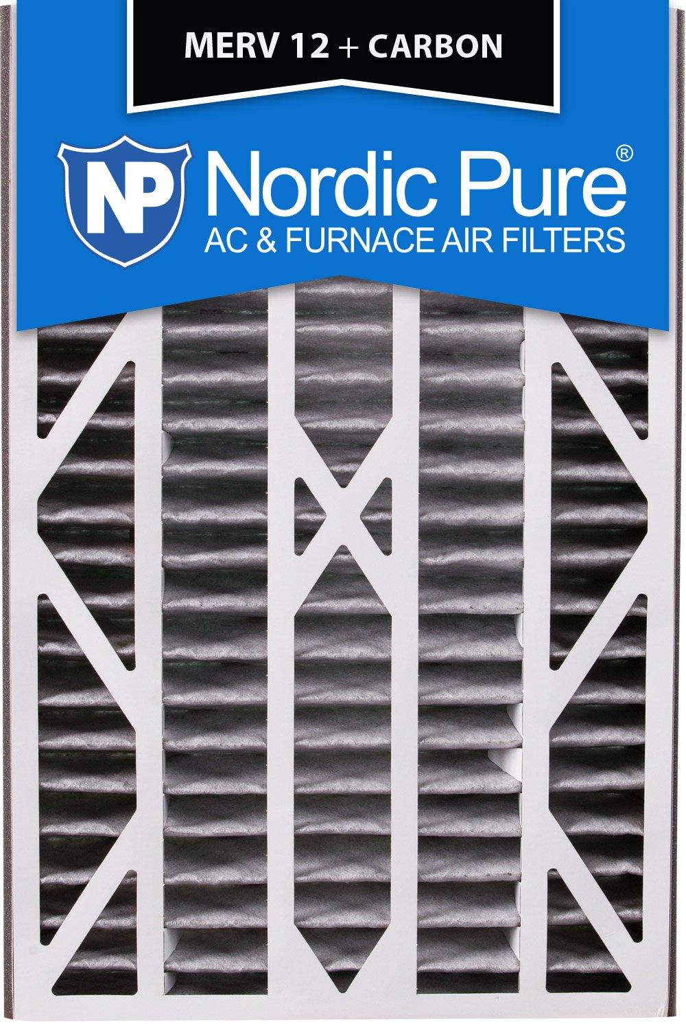 Nordic Pure 16x25x3ABPM12C-3 Merv 12 Plus 碳交流炉过滤器,3 件