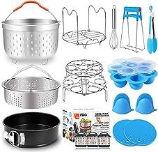 17 PCs Pressure Cooker Accessories for Instant Pot 6 8 Qt with Steamer Basket Silicone Egg Bites Molds Egg Steamer Rack Sp...