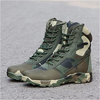 Pu-ai Men's Boots Combat Ankle Boots Work Safety Hiking Hunting Shoes