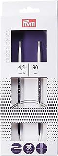 Prym Circular Knitting Pins/Needles, Ergonomic Design, 4.5mm x 80cm Length, High-Performance Synthetic Material, Multi-Col...