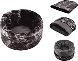 """18"""" Bottom x 23"""" Depth x 25"""" Opening Snuggle Bed - Faux Fur/Cotton Canvas"""