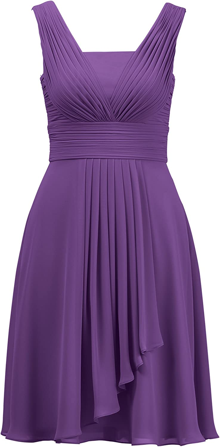Alicepub Bridesmaid Dresses Short for Women Wedding Cocktail Party Evening Dress