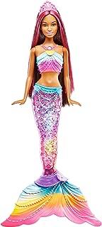 Barbie Dreamtopia Mermaid Rainbow Lights Doll, Dark Brown & Pink Hair