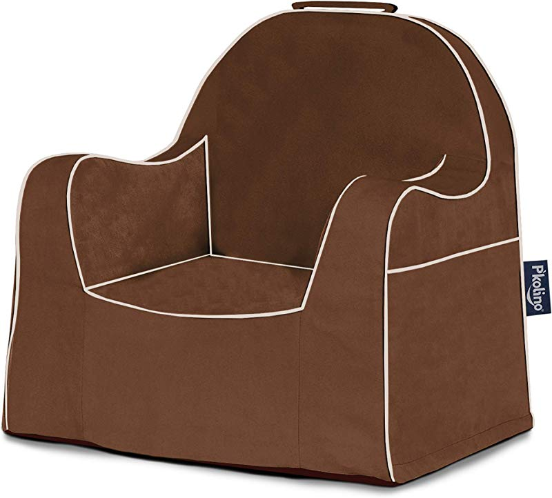 P Kolino Little Reader Dark Brown With White Piping