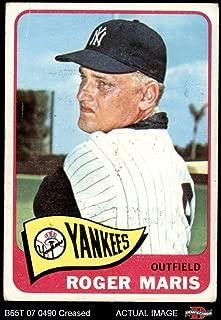 1965 Topps # 155 Roger Maris New York Yankees (Baseball Card) Dean's Cards 2.5 - GD+ Yankees