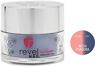 Revel Nail Dip Powder | for Manicures | Nail Polish Alternative | Non-Toxic, Odor-Free | Crack & Chip Resistant | Vegan, Cruelty-Free | Can Last Up to 8 Weeks | 0.5 oz Jar | Mood Changing (Pandora)