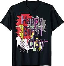 Happy Birthday Funny Retro Graphic Design T-Shirt