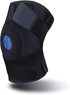 Best 4 Sizes - Adjustable Knee Support for Weightlifting,Workout or Daily Support to Relieves ACL, LCL, MCL, Meniscus Tear, Arthritis and Tendonitis Pain.Knee Brace with Patella Gel Pads & Dual Side Stabilizers for Men & Women. Review