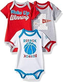 Reebok Baby Boys 3 Piece Basketball Star Creeper Pack