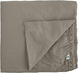 Linen & Cotton Drap Housse Extra Douce Alicia, 100% Lin Lavé - Taupe (140 x 200cm - Double)