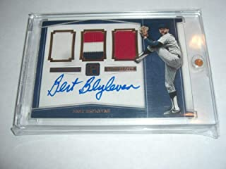 Bert Blyleven 2016 Panini 3-color Game Used Triple Jersey Auto 5/5 Signed Card - Panini Certified - MLB Game Used Jerseys