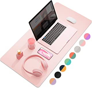 "Dual-Sided Multifunctional Desk Pad, Waterproof Desk Blotter Protector, Leather Desk Wrting Mat Mouse Pad (31.5"" x 15.7"", ..."