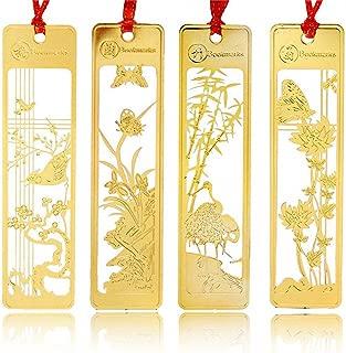 Segnalibro in ottone con girasole oro segnalibri in metallo in stile cinese per regali per studenti e insegnanti