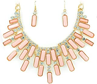 2 pieces pink nude jewellery set Athens for women