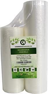 "Commercial Bargains 11"" x 50' and 8"" x 50' Commercial Vacuum Sealer Saver Rolls Food Storage"