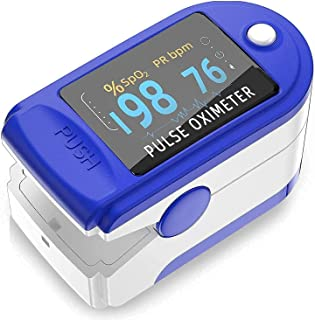Pulse Oximeter, Blood Oxygen oxymeter Saturation & Heart Rate Monitor, Oxometer for Oxygen Measurement, Pack of 1