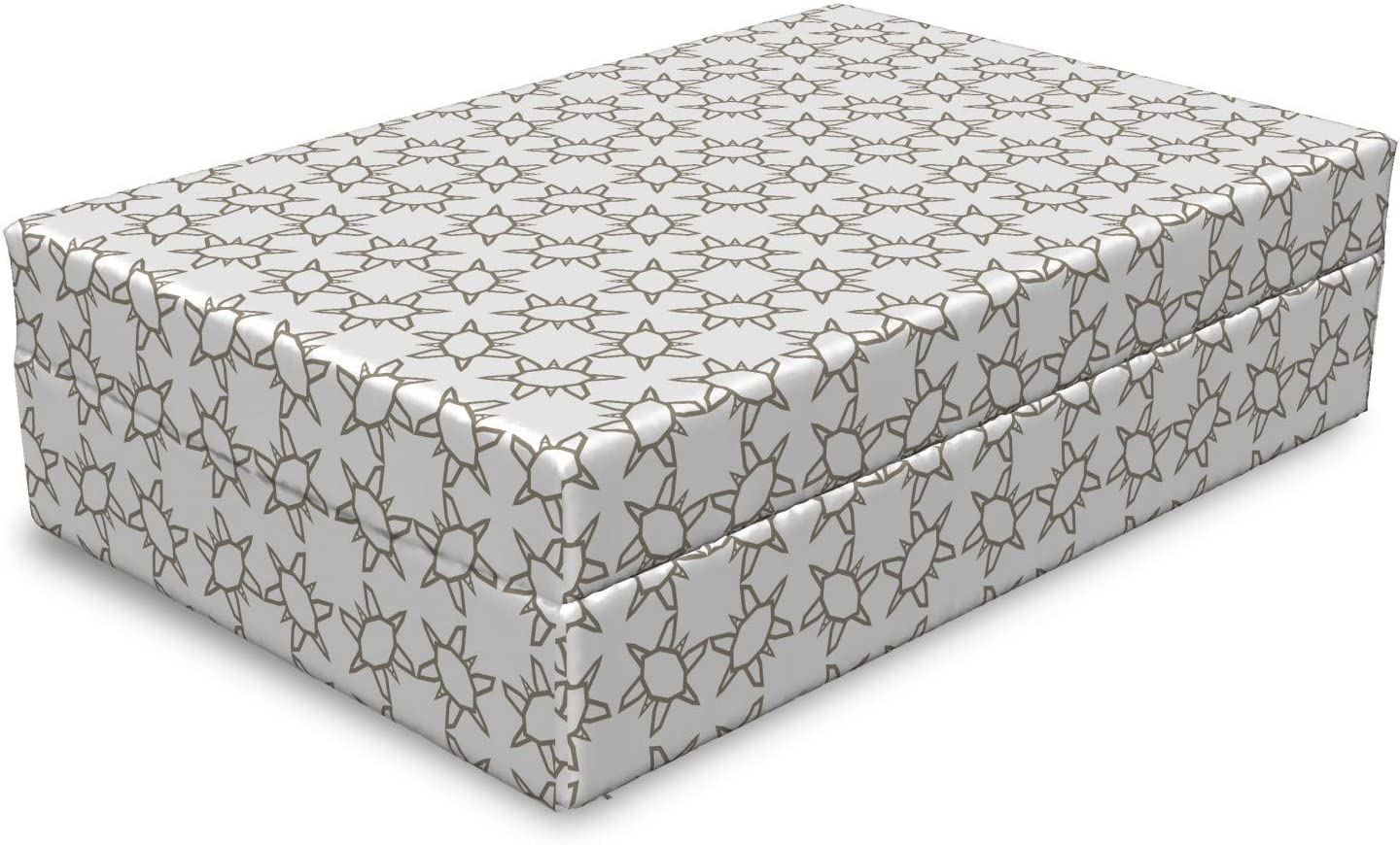 Lunarable Geometrical Dog Bed Minimalist In a popularity Motifs Abstract Mon 100% quality warranty in