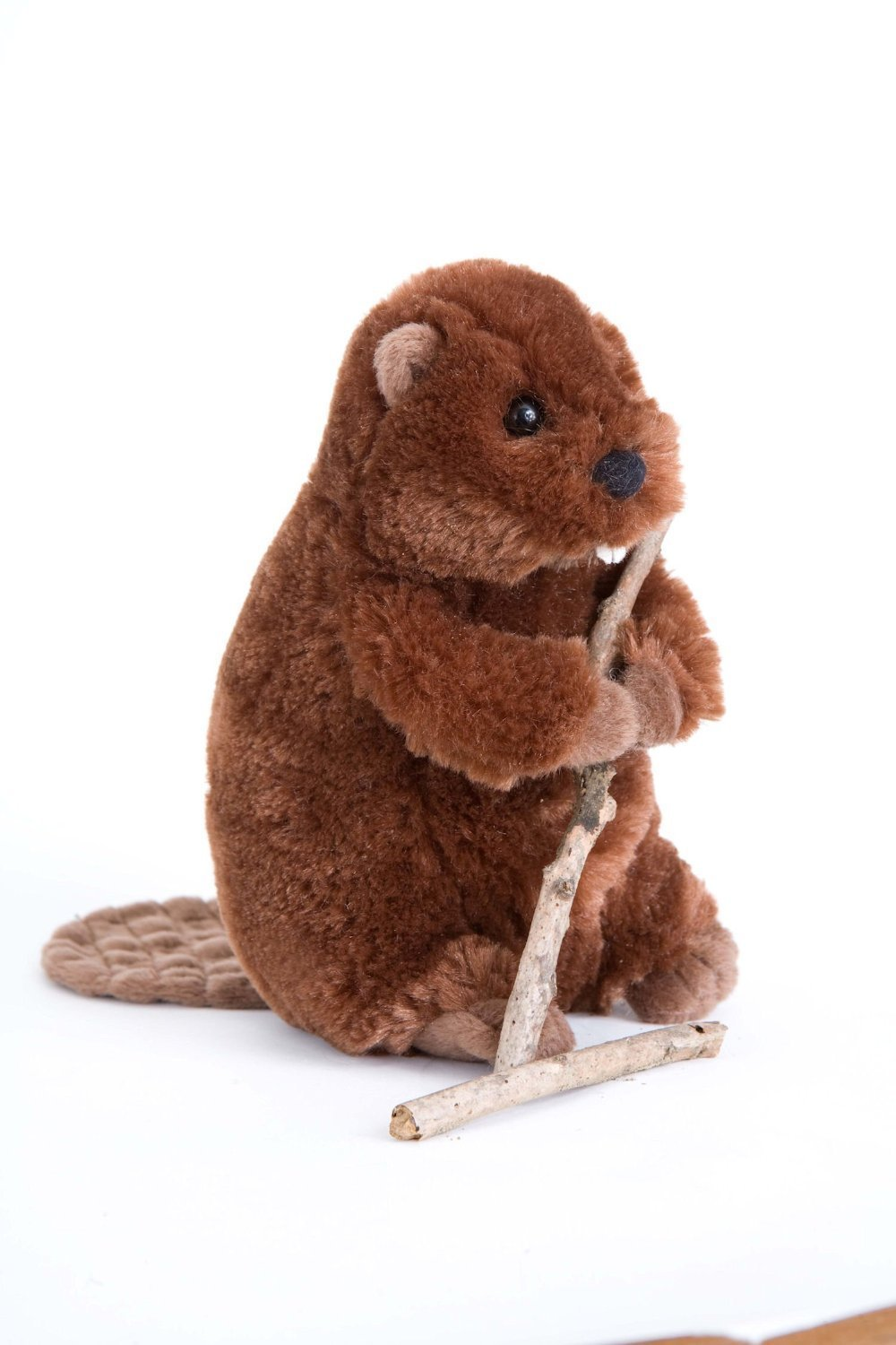 Lined Small Brown Children Kids Child Faux Fur Beaver Animal Hat Cap