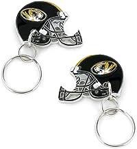 NCAA Missouri Tigers 2-Sided Helmet Bottle Opener Keychain
