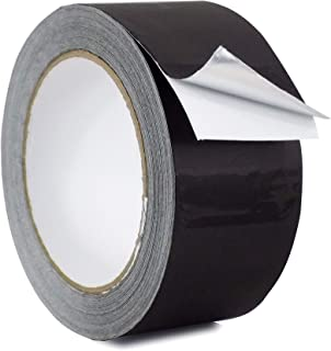 WOD AF-20A-B Black Matte Aluminum Foil Tape General Purpose Non Reflective Hot & Cold Shield Resistant - Good for HVAC, Air Ducts, Insulation, Metal Repair: 2 in. x 27 yds. (Pack of 1)