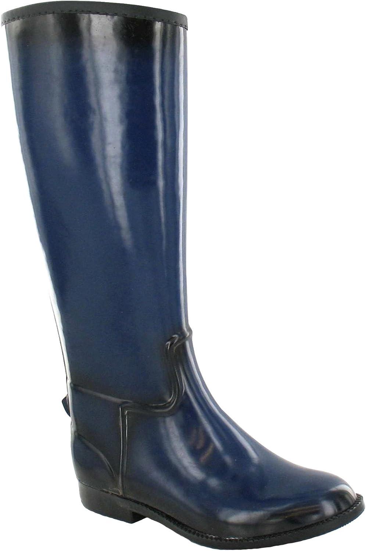 Spot On Womens Ladies High Leg color Gradient Riding Wellington Boots