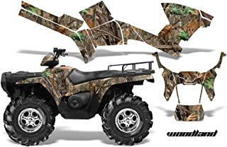 AMRRACING Polaris Sportsman 800/500 2005-2009 Full Custom ATV Graphics Decal Kit - Woodland Camo