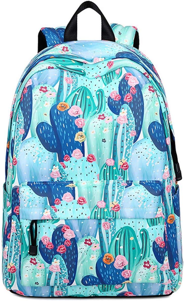 Teeya School Backpack for trust Teen Girls Cactus Cut Bookbags Daypack Daily bargain sale
