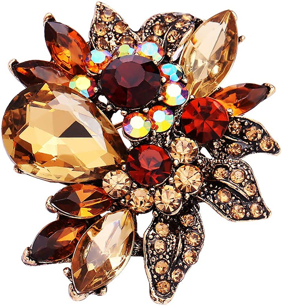 Crystal Diamond Brooch wedding decoration women's Brooch safety pin Scarf Clip party Pin Jewelry backpack decoration
