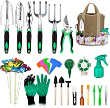 49 Pcs Garden Tools Set, Extra Succulent Tools Set, Heavy Duty Gardening Tools Aluminum with Soft Rubberized Non-Slip Hand...