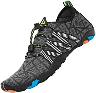 Water Shoes Mens Womens Aqua Shoes for Sailing Surf Fishing Swimming Footwear Quick Drying Lightweight,Gr.2.5-13 UK
