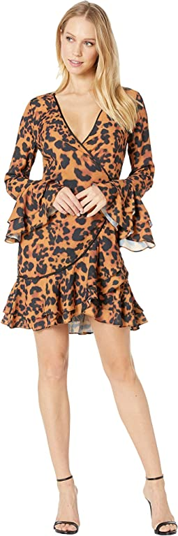 Denise Ruffle Wrap Dress