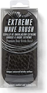 Brush Strokes Extreme Wave Concave Military Boar Brush, 2.5 inch