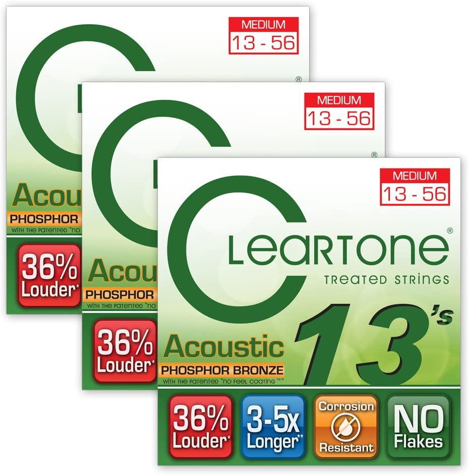 Cleartone 7413 Medium Phosphor Bronze Strings Guitar Acoustic Cheap Selling rankings 13