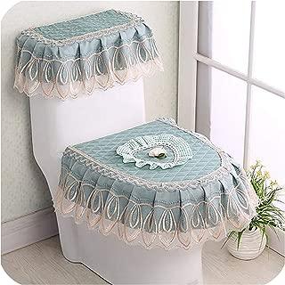 New 3 PCS/Set Gold Velvet Lace Toilet Seat Toilet U Shaped Coat Home Decoration Bathroom Toilet Mat,11
