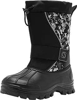 Mens Outdoor Winter Waterproof Boots Warm Insulated Fur Snow Boots Work Hiking Booties for Men
