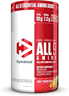 Dymatize All9 Amino Fruit Fusion Rush, 15.87 Ounce
