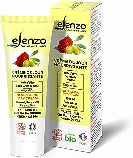 eLenzo • Crema de día orgánica • Crema hidratante facial y cuello • Aloe vera agua de rosa aceite de karité • Fabricada ...