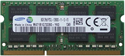 Samsung original 8GB (1 x 8GB) 204-pin SODIMM, DDR3 PC3L-