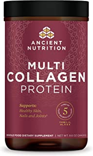 Multi Collagen Protein Powder Pure, Formulated by Dr. Josh Axe, 5 Types of Food Sourced Collagen Peptides, Supports Hair, ...