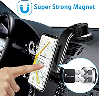 Magnetic Phone Car Mount, Vansky Dashboard Hands Free Phone Holder for Car, Strong Grip Cell Phone Car Mount for iPhone XS Max R X 8 Plus 7 6S Samsung Galaxy S9 S8 Edge S7 S6 Note
