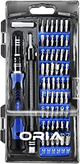 ORIA Precision Screwdriver Kit, 60 in 1 with 56 Bits Screwdriver Set, Magnetic Driver Kit with Flexible Shaft, Extension R...