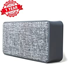Woozik Home Portable Bluetooth Speaker  - with Fabric Surface, Built-in Microphone, AUX, Great for Outdoors and Indoors