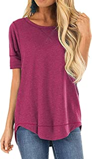 Women's Short Sleeve | Long Sleeve Loose Tunic Tops Casual Cute Soft Pullover Shirts Blouses