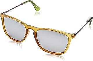Pepe Jeans Polarized Wayfarer Unisex Sunglasses - (PJ7276C3P_Crystal Olive|54|Grey Silver Revo Color Lens)