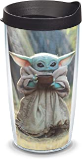 Tervis 1357922 The Child Sipping - Vaso aislado Mandaloriano, 16 onzas, transparente - Tritan
