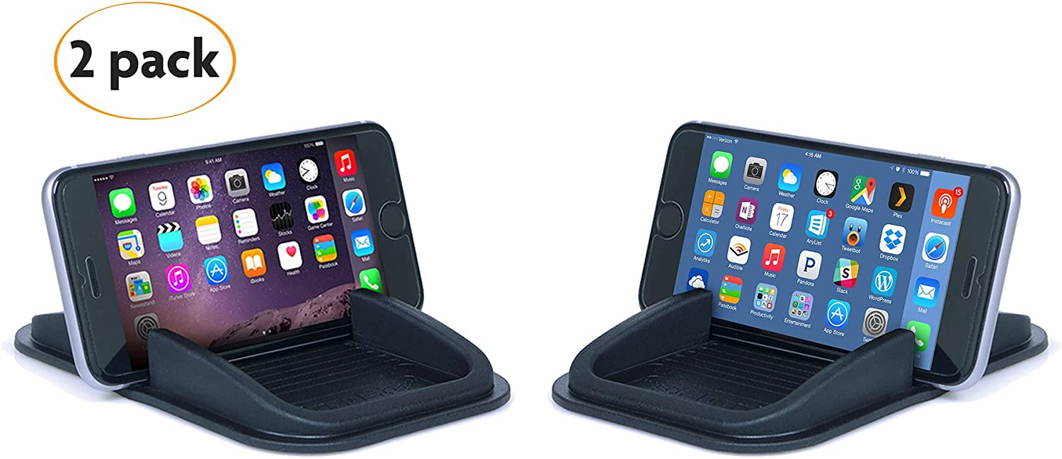 Sticky Pad Roadster Smartphone and Coin Dashboard Sticky Pad 2-Pack - Smartphone Car Accessory - Removable and Reusable