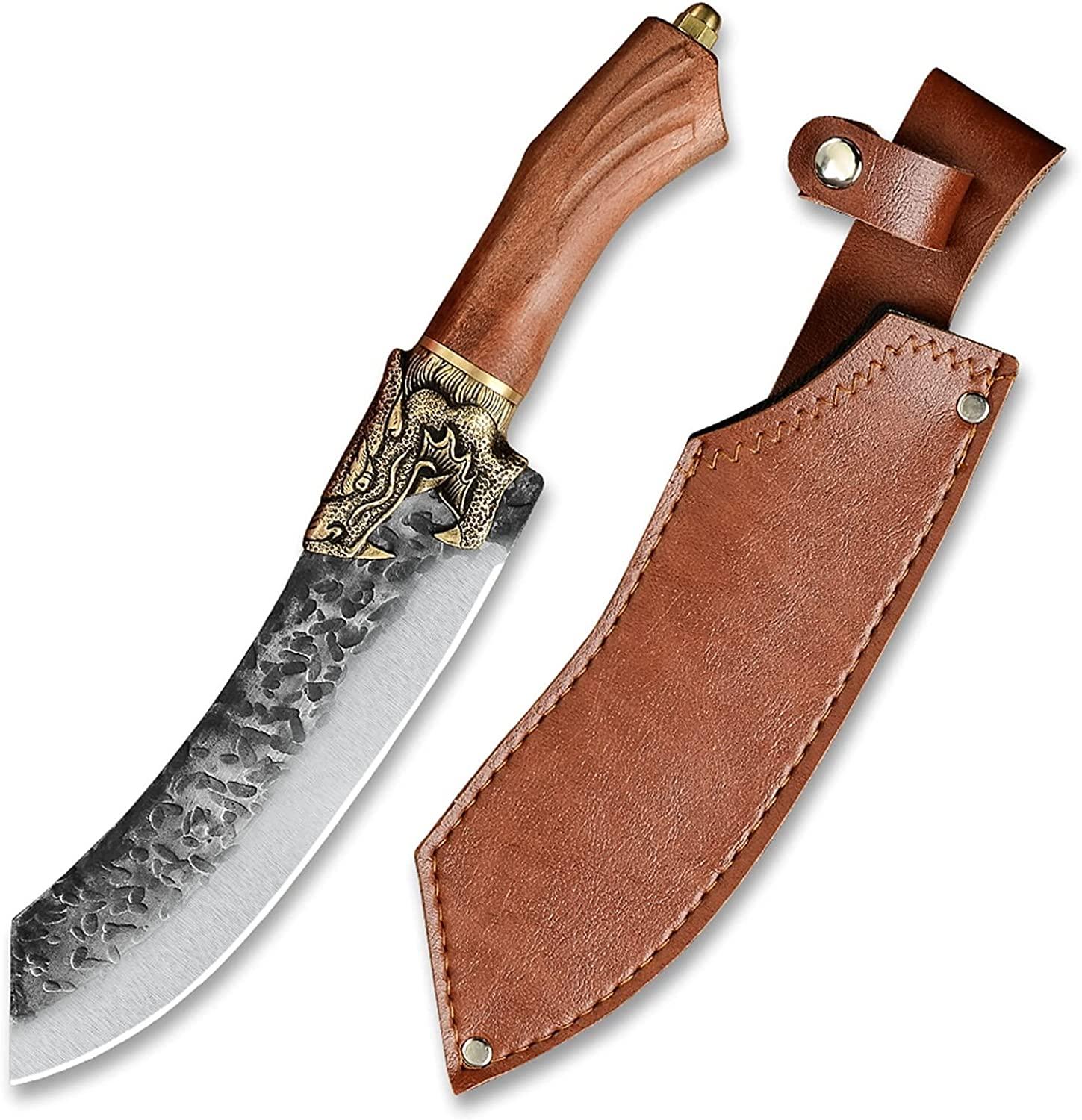 Serbian Kitchen Knife Forged Handmade Steel Hammered In a popularity Blade Topics on TV 7cr17
